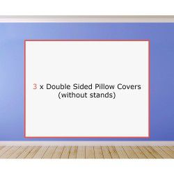 3 x Double Sided Pillow Covers (without stands)