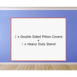 2 x Double Sided Pillow Covers + 1 x Heavy Duty Stand