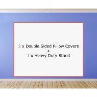 3 x Double Sided Pillow Covers + 1 x Heavy Duty Stand