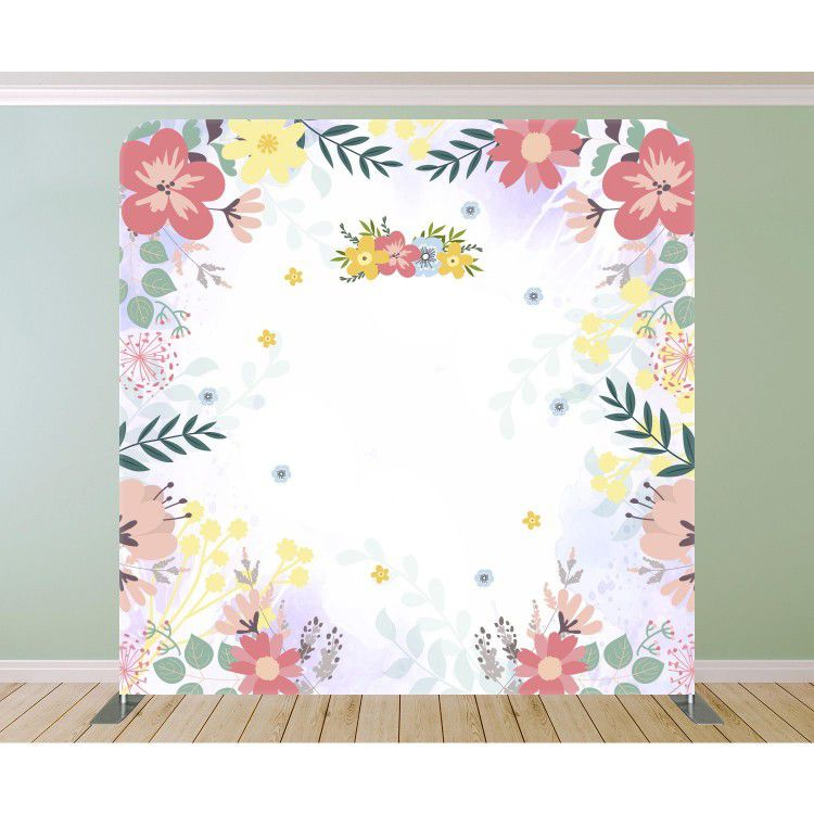 Flower Frame With Garland