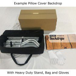 4 x Double Sided Pillow Covers + 2 x Heavy Duty Stands