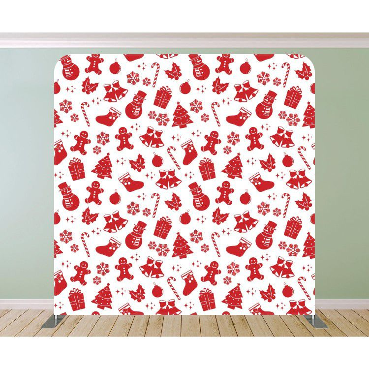 Christmas Red and White Pattern