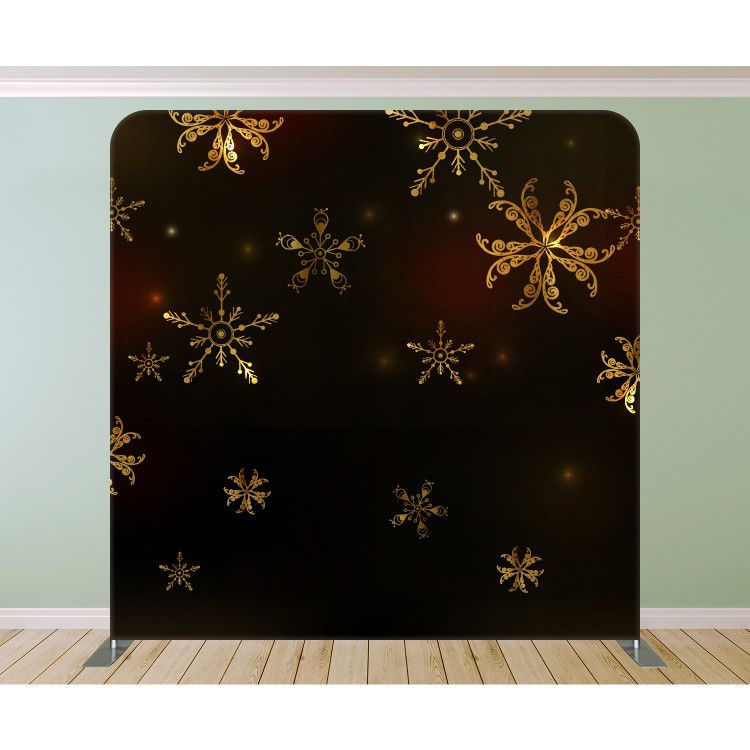 Golden Snowflakes Dark